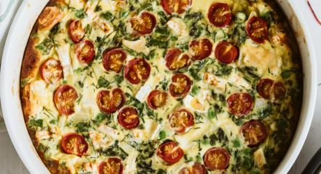Fritata tomates basilic